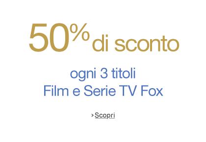 50% di sconto ogni 3 DVD o Blu-ray