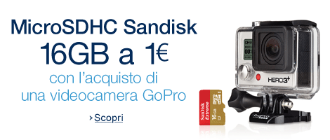 MicroSDHC Sandisk Extreme 16GB a 1€