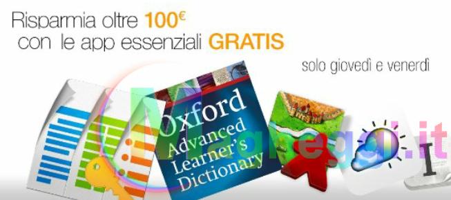 Oltre 100€ di applicazioni Gratis