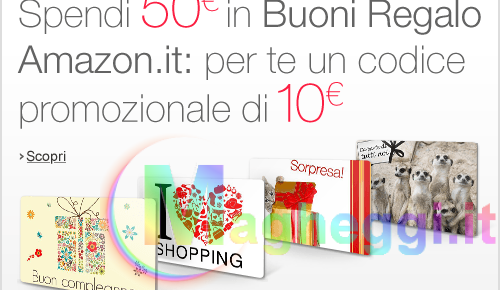 Buono di 10€ su Amazon.it