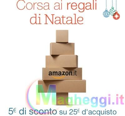 5€ di sconto su un acquisto di 25€ su Amazon