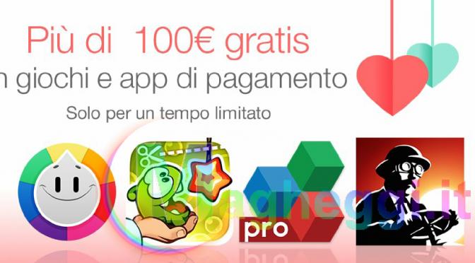 Più di 100€ di Giochi e App a Pagamento Gratis