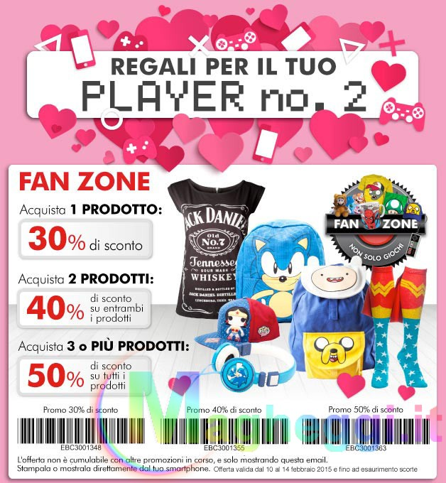 Fan Zone GameStop San Valentino