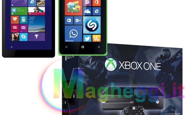 MICROSOFT Xbox One No Kinect + Halo The Master Chief Collection + Nokia Lumia 435 + Tablet Mediacom M-IPROW810 a 399€